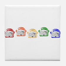 Rainbow Toaster Tile Coaster