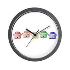 Rainbow Toaster Wall Clock
