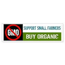 No GMO - Support Small Farmers, B Car Sticker