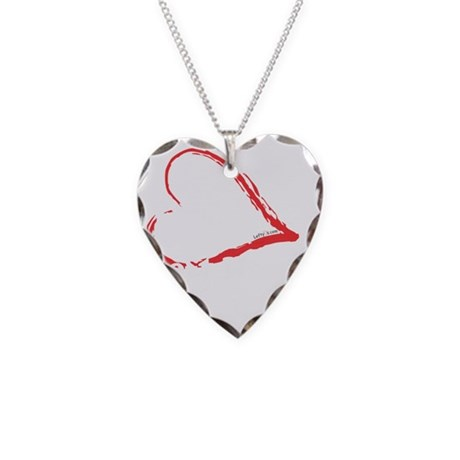 Left Hand Love Club Necklace Heart Charm
