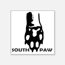 "Southpaw Square Sticker 3"" x 3"""
