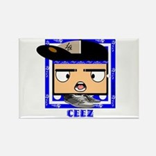 """Ceez Crips """"Square Heads"""" Rectangle Magnet"""