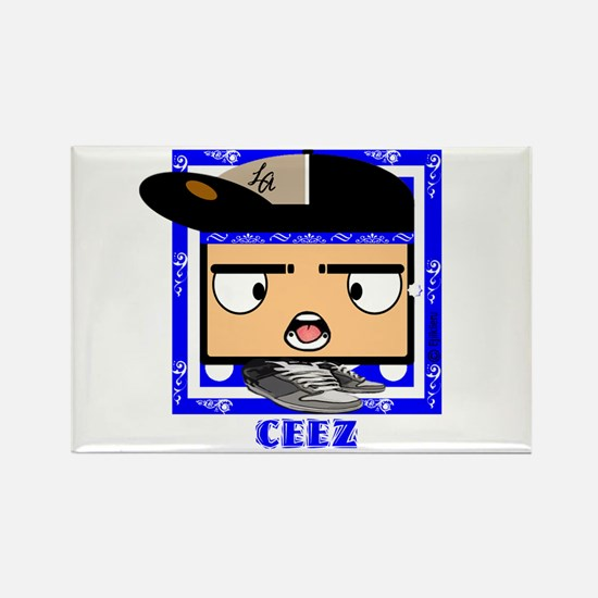 "Ceez Crips ""Square Heads"" Rectangle Magnet"