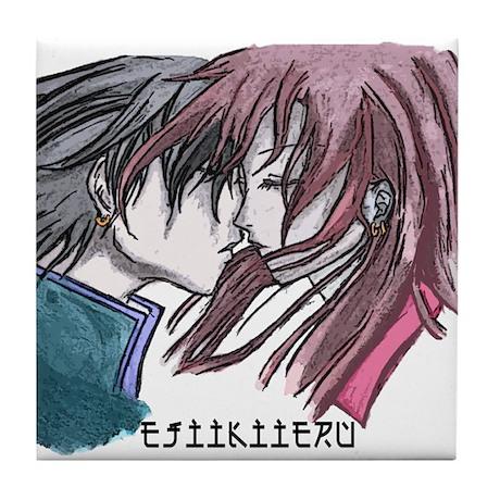 Manga Love Tile Coaster