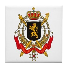 Belgium Coat of Arms Tile Coaster