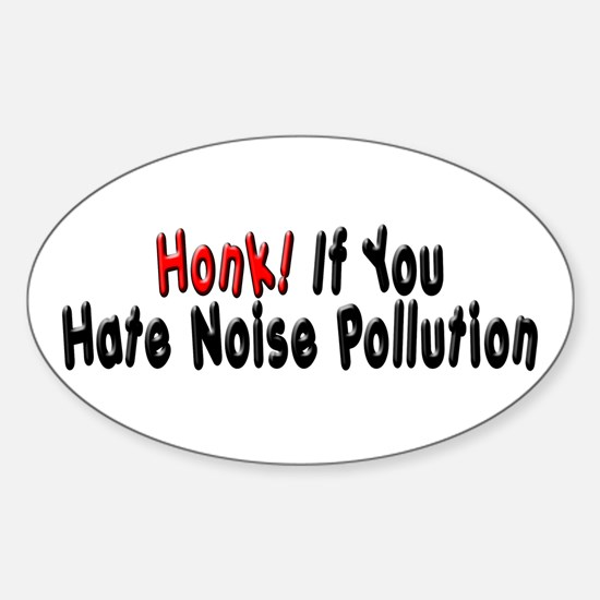 Noise Pollution Oval Decal