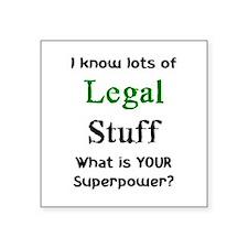"legal stuff Square Sticker 3"" x 3"""