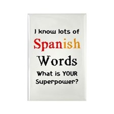 spanish words Rectangle Magnet