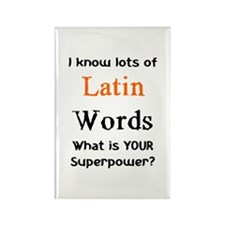 latin words Rectangle Magnet