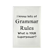 Grammar Rules Rectangle Magnet