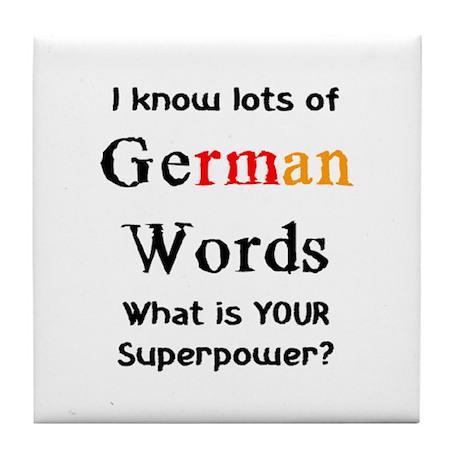 german words Tile Coaster