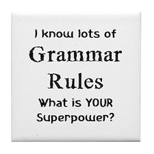 grammar rules Tile Coaster
