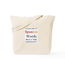 spanish words Tote Bag