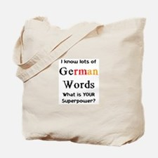 german words Tote Bag