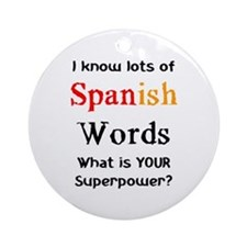 spanish words Ornament (Round)