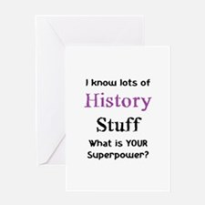 history stuf Greeting Card