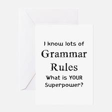 grammar rules Greeting Card
