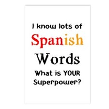spanish words Postcards (Package of 8)