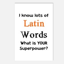 latin words Postcards (Package of 8)