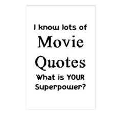 movie quotes Postcards (Package of 8)