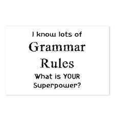 grammar rules Postcards (Package of 8)