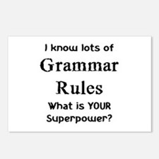 grammar rules Postcards (Package of 8)