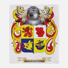 MacKintosh Coat of Arms - Family Cre Throw Blanket