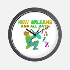 New Orleans Jazz (4) Wall Clock