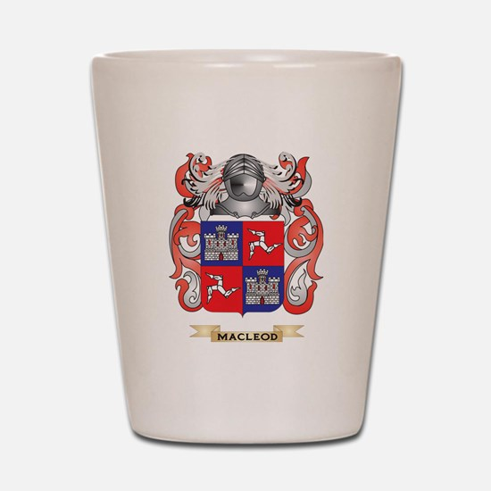 MacLeod Coat of Arms - Family Crest Shot Glass