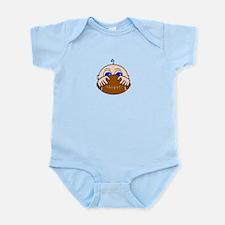 Baby Peeking Holding Football Body Suit