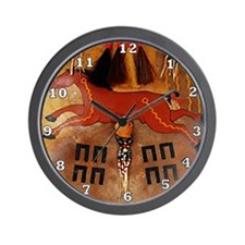 Horse Medicine Shield Wall Clock