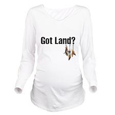 Cute Indian Long Sleeve Maternity T-Shirt
