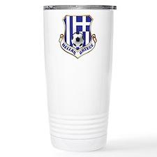 Greece Soccer Shield Travel Mug
