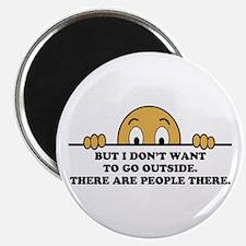 """Social Phobia Humor Saying 2.25"""" Magnet (100 pack)"""