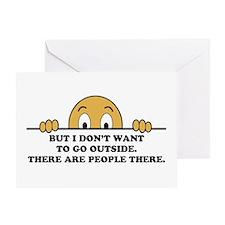 Social Phobia Humor Saying Greeting Card