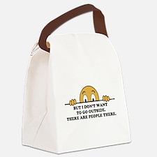 Social Phobia Humor Saying Canvas Lunch Bag