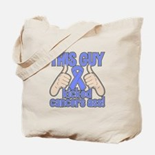 Intestinal Cancer This Guy Kicked Cancer Tote Bag