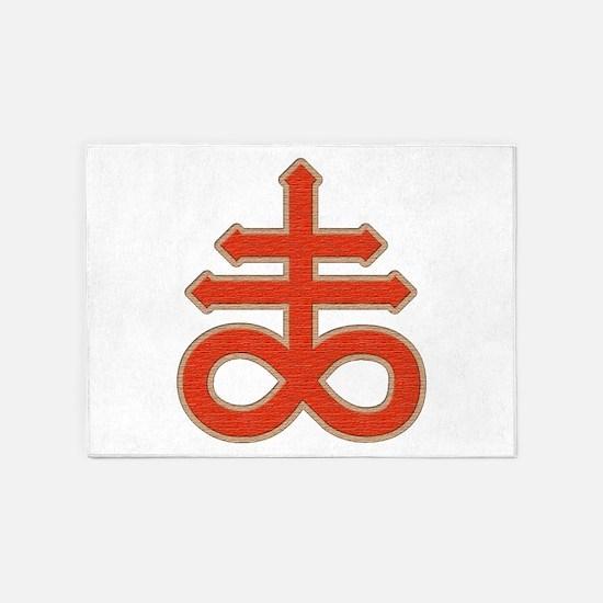 Satanic Cross 5'x7'Area Rug