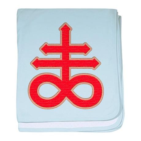 Satanic Cross baby blanket