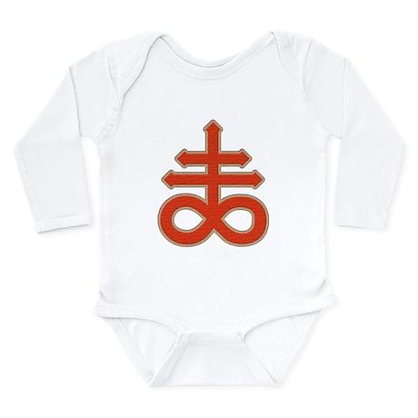 Satanic Cross Long Sleeve Infant Bodysuit