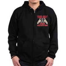 Brain Cancer This Guy Kicked Cancer Zip Hoodie