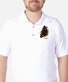 Red Admiral Butterfly Golf Shirt