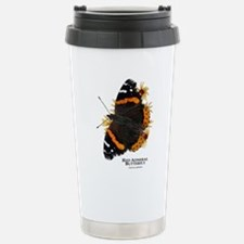 Red Admiral Butterfly Stainless Steel Travel Mug
