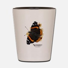 Red Admiral Butterfly Shot Glass