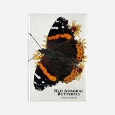 Red Admiral Butterfly Rectangle Magnet