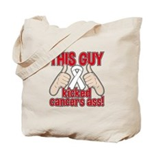 Bone Cancer This Guy Kicked Cancer Tote Bag
