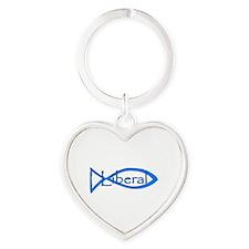 Liberal Christian Heart Keychain