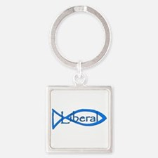 Liberal Christian Square Keychain