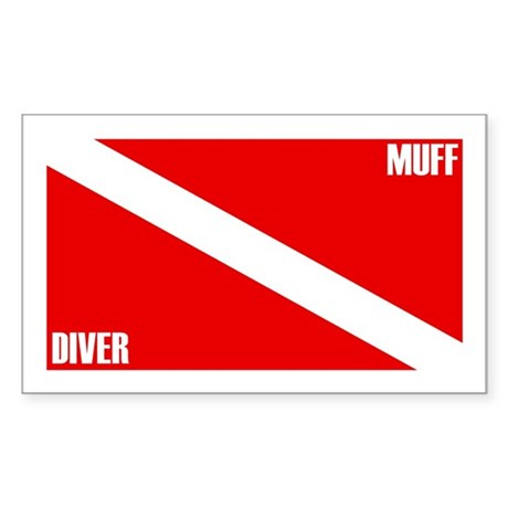 Muff Diver Down Rectangle Sticker
