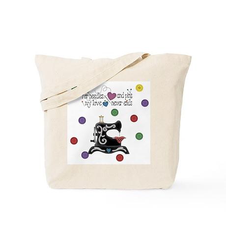 Needles and Pins Sewing Tote Bag